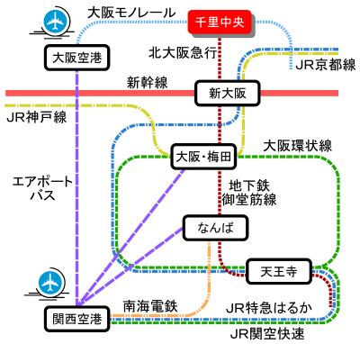 関西近郊路線図